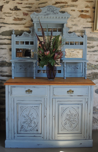 Antique Edwardian Side board or dresser with Chalk Paint finish
