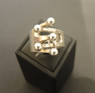 Vintage Norway Sterling Silver Modernist Ring Ana Greta Eka