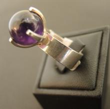 Vintage Finland Sterling Silver Modernist Ring Elis Kauppi
