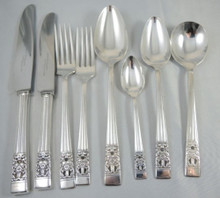 Vintage Hampton Court Coronation Oneida Community Silver Plate Cutlery Set 43 Piece 6 Person