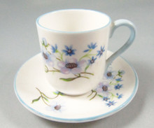 Vintage Shelley Blue Rock Miniature Cup and Saucer