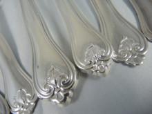 Vintage 6 person Danish silver plate cutlery flatware set Hellas