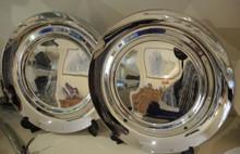 2 Vintage Georg Jensen Stainless Steel Platters