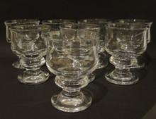 8 Vintage Holmegaard Tivoli white wine glasses Per Lutkin 1968