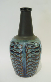 Danish Mid Century Modern Soholm Einar Johansen Blue Series Vase