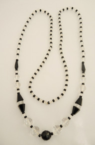 Art Deco Crystal and French Jet necklace