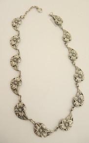 Vintage Sterling Silver Danecraft Dogwood Flower necklace