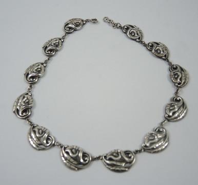 Vintage Sterling Silver Danecraft Calla Lily Necklace