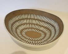 Swedish Mid Century Modern Art Pottery Upsala Ekerby 'Negro' Bowl