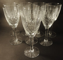8 Vintage Holmegaard Else Red Wine glasses 1919