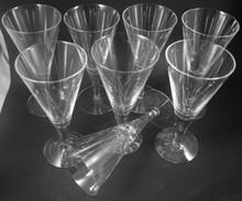 8 Vintage Holmegaard Clausholm White Wine glasses Per Lutkin 1957