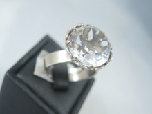 Vintage Sterling Silver Norwegian Rock Crystal Ring