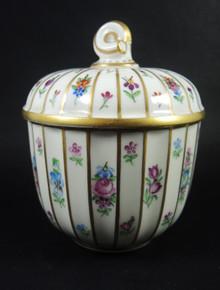 Vintage Royal Copenhagen hand painted Henriette lidded jam pot