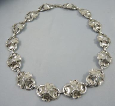 Vintage Sterling Silver Danecraft Dogwood necklace