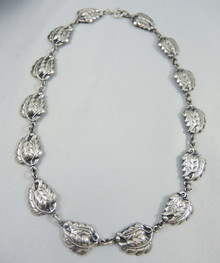 Vintage Sterling Silver Danecraft Double Leaf necklace
