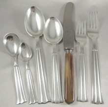 6 person Vintage Danish Silver Plate Cutlery Set Regent By Victoria