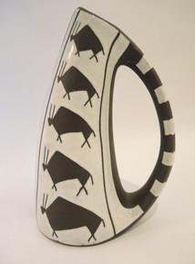 Vintage Danish Michael Andersen & Sons Art Pottery Negro Tribal Vase Bornholm Denmark