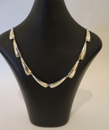 Vintage Swedish Sterling Silver Anton Michelsen Necklace