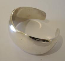 Vintage Sterling Silver Wave Cuff Bangle