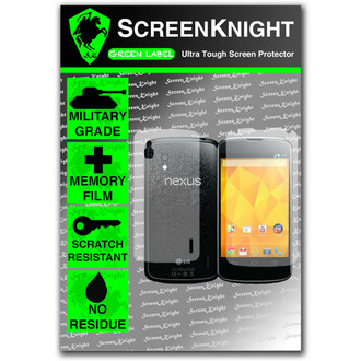 ScreenKnight Google Nexus 4 Full Body Invisible Shield