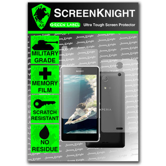 ScreenKnight Sony Xperia ZR Full Body Invisible Shield