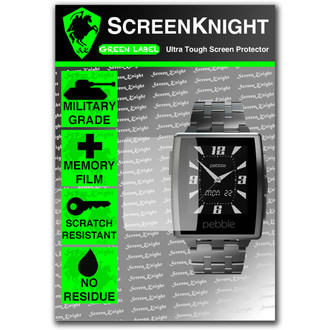Pebble Steel Front Screen Protector - Military Shield