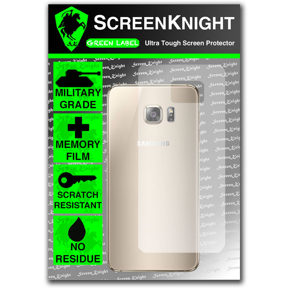 ScreenKnight Samsung Galaxy S6 Edge Plus Back Invisible Shield