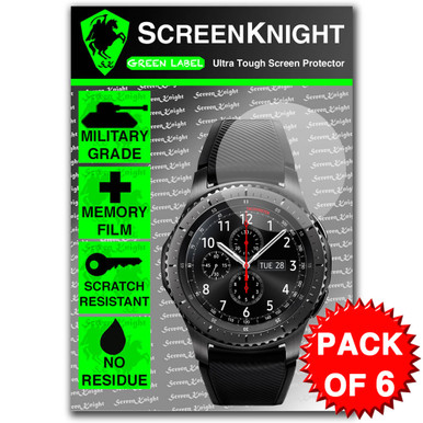 Samsung Galaxy Gear S3 Frontier Screen Protector - 6 Pack