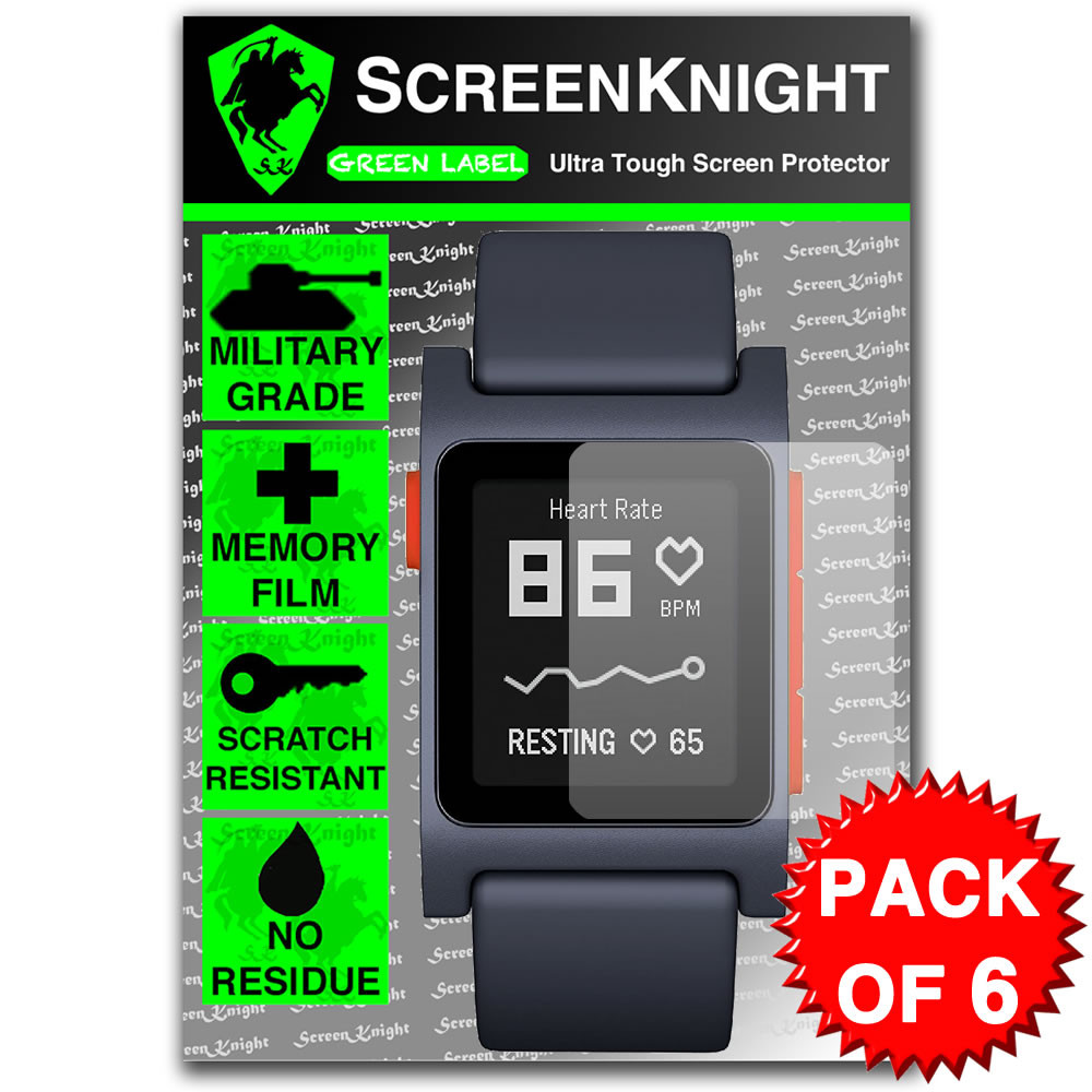 Pebble 2 / Pebble 2 SE Screen Protector - Military Shield - 6 pack