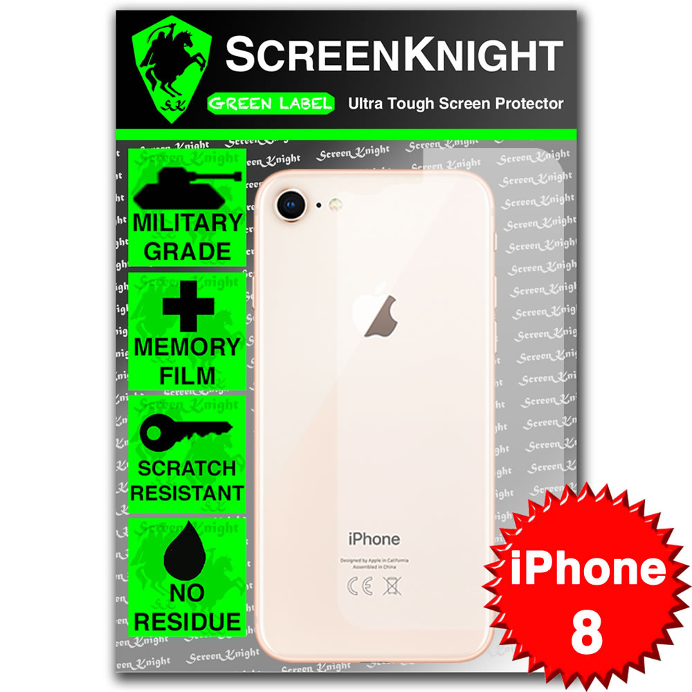 iPhone 8 Screen Protector - Military Shield - Back