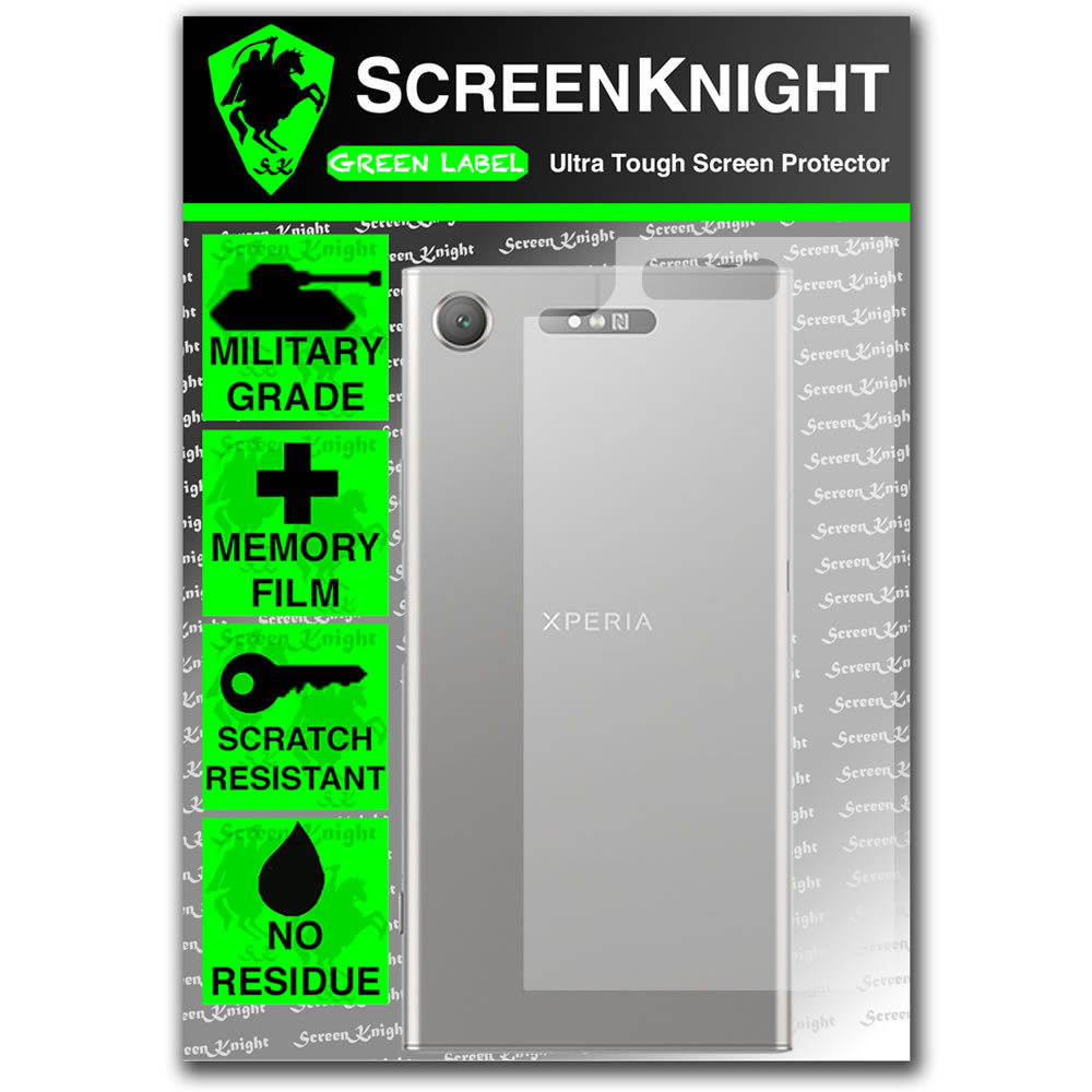 Sony Xperia XZ1 Screen Protector - Military Shield - Back