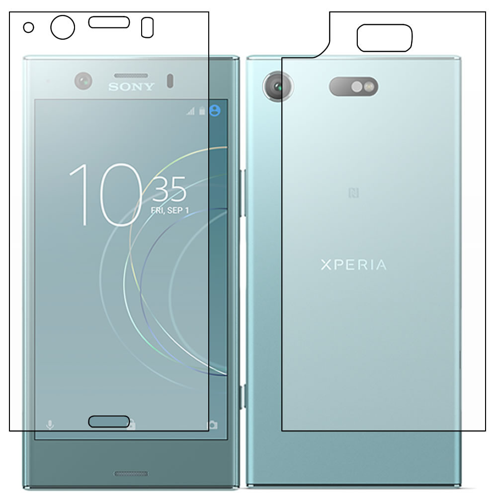 Sony Xperia XZ1 Compact Screen Protector - Military Shield  - Full Body
