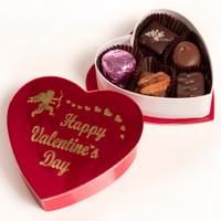 2.5 oz. Cupid Valentine's Heart Box of Chocolates
