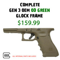 Brand New O.D. Green Glock G17 Gen 3 Completed Lower