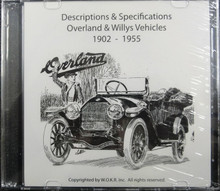 Descriptions & Specifications - Overland & Willys Vehicles 1902-1955