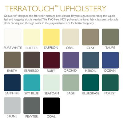 Oakworks Terratouch Upholstery Colour Palette