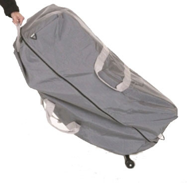 Dolphin II Massage Chair Wheeled Carry Case Gray