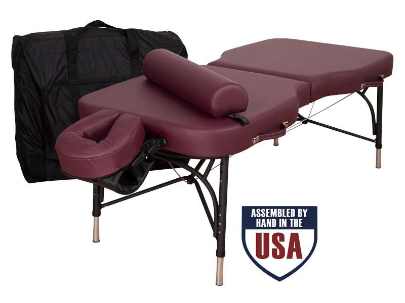 Oakworks Advanta Professional Massage Table Package- with carry case, platform, crescent, bolster and arm hammock