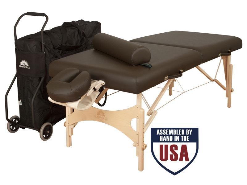 Oakworks Nova Traveler Package - with Carry case, Cart,Face Rest Cradle, Face Rest Cushion, Arm Hammock and Bolster