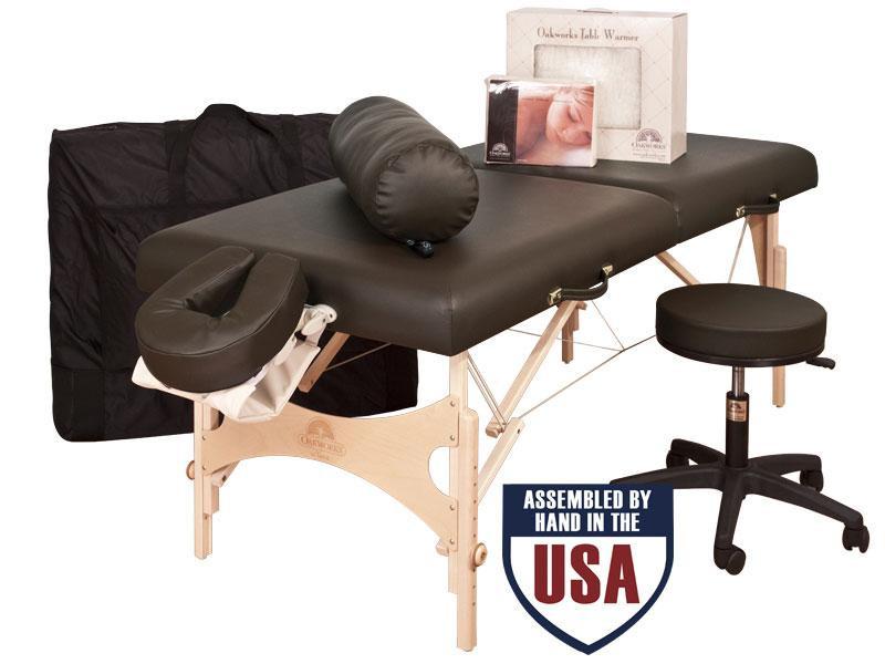 Oakworks Nova Ulitmate Package - with Carry case, Face Rest Cradle, Face Rest Cushion, Arm Hammock, Bolster, Flannel Sheets, Heated Fleece & Swivel Stool