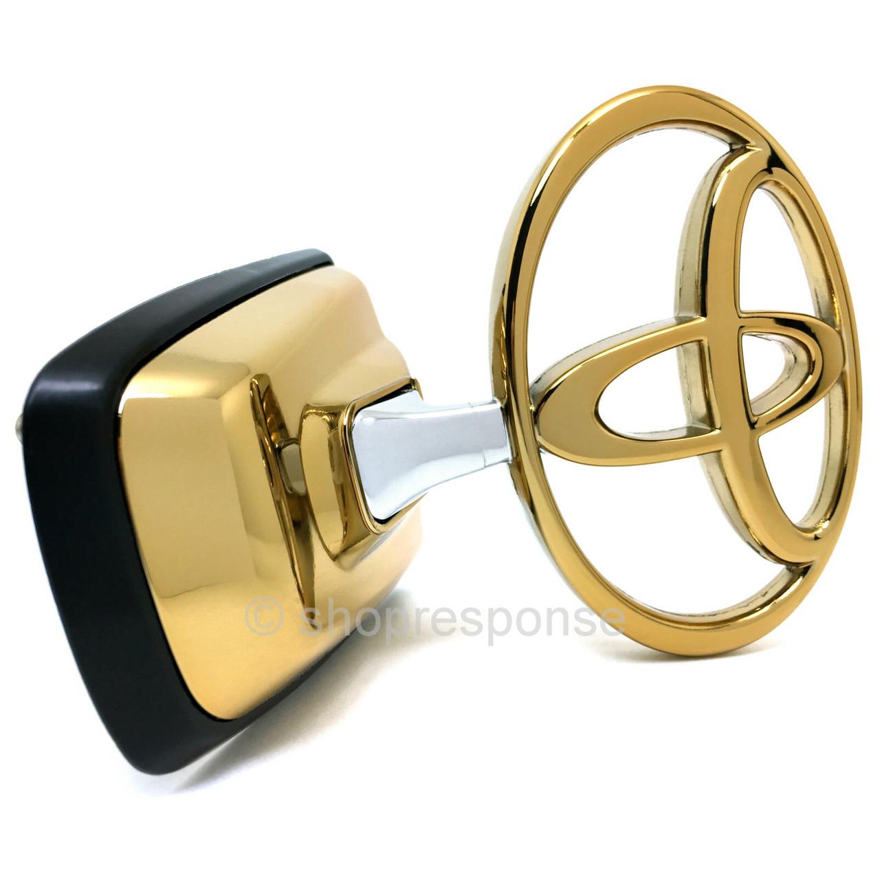 jdm toyota 98 07 land cruiser j100 front hood gold t emblem res. Black Bedroom Furniture Sets. Home Design Ideas