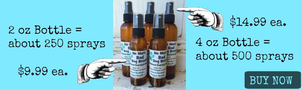 No More Bad Dog Breath Oral Care Spray