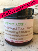 All Natural Remineralizing Plain ole Peppermint Tooth Powder