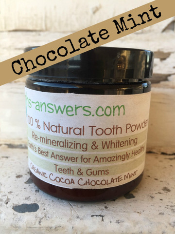 3 oz Organic Cocoa Chocolate Mint Tooth Powder