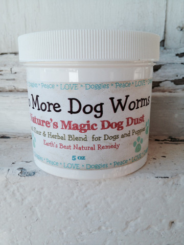All Natural Dog De-Wormer Treatment and Wellness Powder for Dogs and Puppies