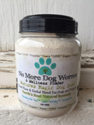 12 oz All Natural No More Dog Worms De-Worming and Wellness Powder 3 Month Supply  &