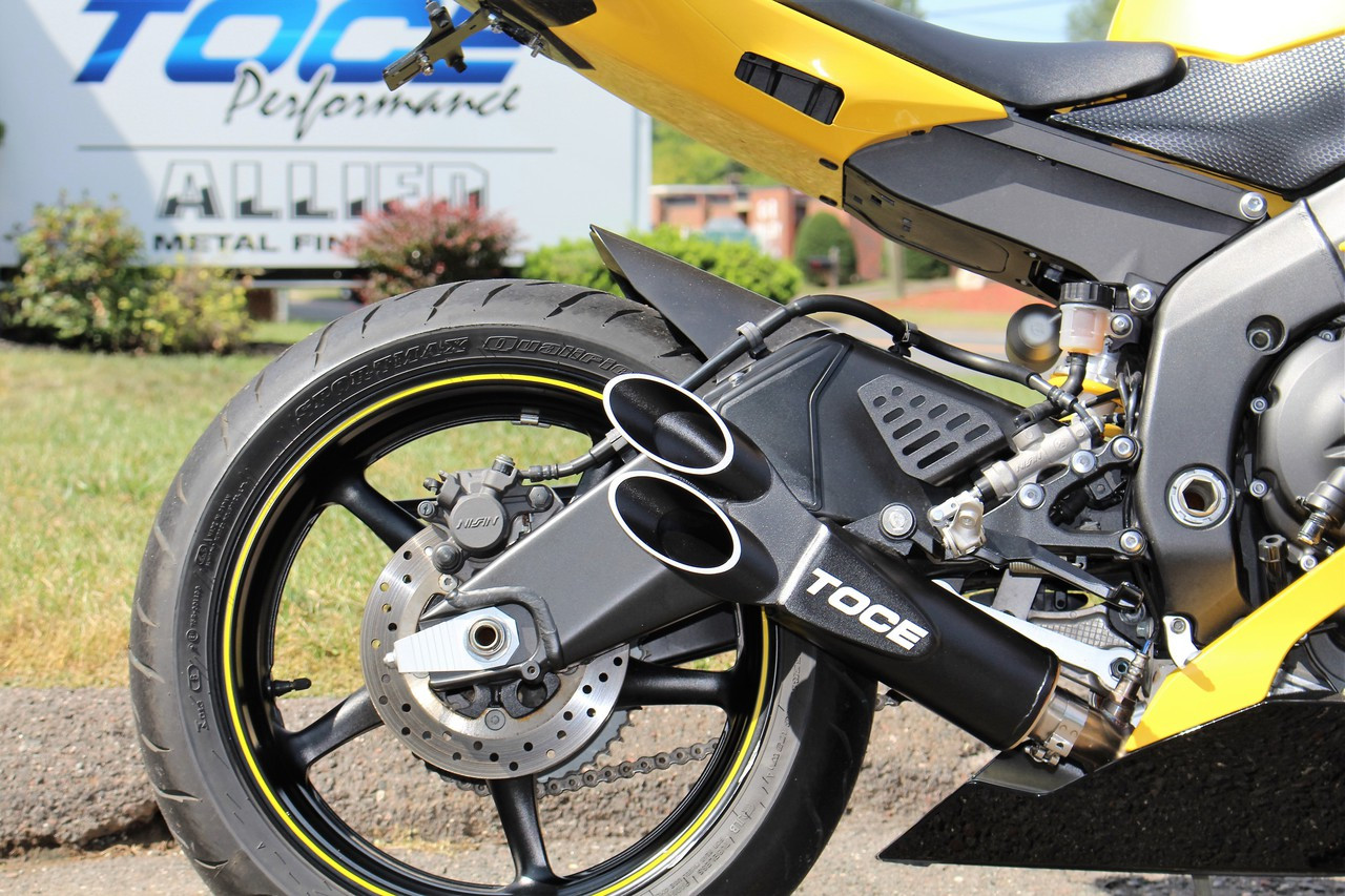 Toce 2006 2017 yamaha r6 razor tip 3 4 cat delete exhaust for Best exhaust system for yamaha r6