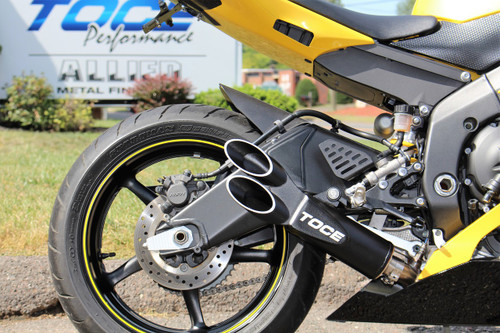 Toce™ 2006-2016 Yamaha R6 Razor Tip 3/4 Cat Delete Exhaust System