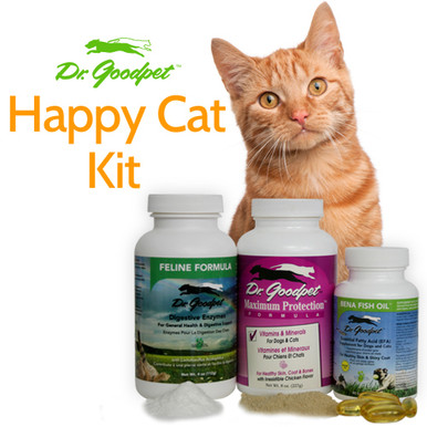Includes Feline Digestive Enzymes, Maximum Protection and Bena Fish Oil