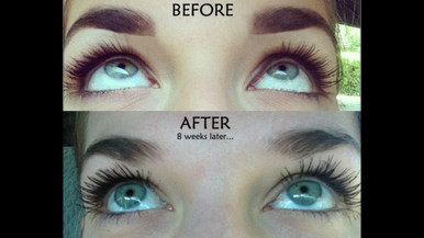 Lash and Brow Growth before and after. iLove Lash + Brow Growth Serum.